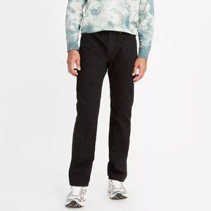 Levi's 505 Straight Leg Faded Black Jeans 34x30